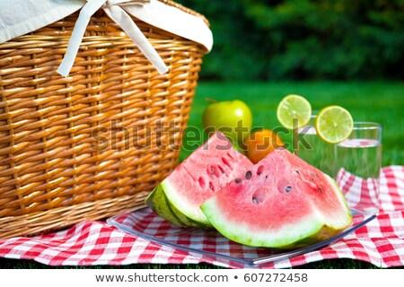 夏 ピクニック 日 食品 チーズ 朝食 ストックフォト © tannjuska