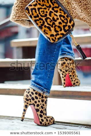 female high heeled boots and beautiful bag stock photo © pawelsierakowski