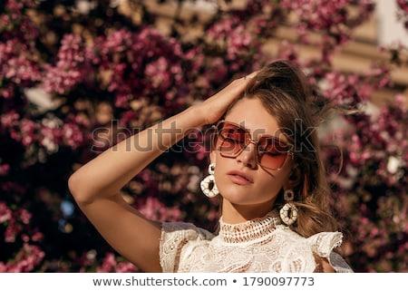 Nő visel túlméretezett napszemüveg mosoly szexi Stock fotó © photography33