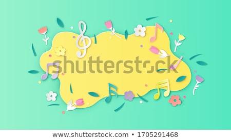 Wiosną melodia karty niebo muzyki krajobraz Zdjęcia stock © carodi
