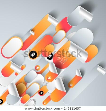 moderne · lijn · business · infographics · opties · banner - stockfoto © place4design