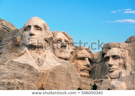 Rushmore · hegy · feketefehér · Dél-Dakota · hegy · férfiak · portré - stock fotó © andreykr