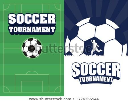 calcio · palla · erba · cielo · blu · cielo · sport - foto d'archivio © lightsource