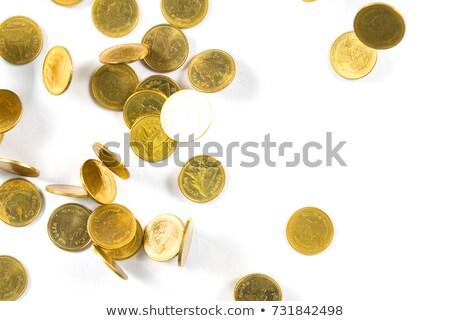 üzletember · felső · arany · érmék · fehér · üzlet · háttér - stock fotó © vlad_star