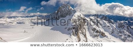 Österreich Alpen Winter Berg Haus Wald Stock foto © val_th