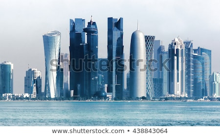 Skyline of the West Bay area of Doha, Qatar Stock photo © SophieJames