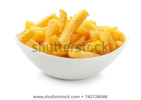 Plaat voedsel lunch snel Geel Stockfoto © M-studio
