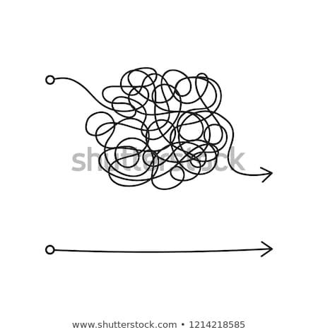 лабиринт · красный · стрелка · простой · решения - Сток-фото © 4designersart