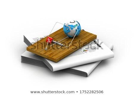 Globe in mousetrap Stock photo © 4designersart