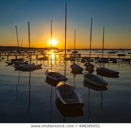 Stock photo: Sunset at Sandbanks