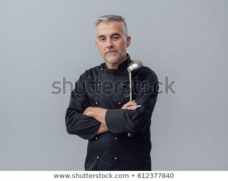 Maduro masculina chef los brazos cruzados retrato pie Foto stock © wavebreak_media