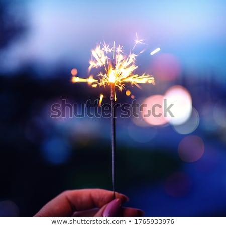woman sparkler Stock photo © Paha_L