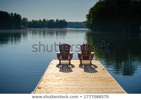 2 · 木製 · チェア · 庭園 · 自然 · 風景 - ストックフォト © travnikovstudio