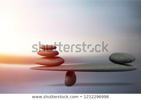 armonía · equilibrio · negro · estructura · concepto · reflexión - foto stock © silense