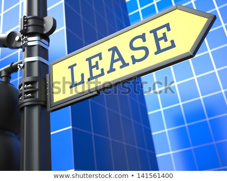 Leasing Concept. Studying Roadsign Arrow. Stock photo © tashatuvango