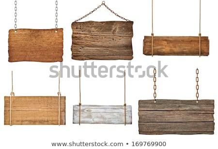 Old wood sign Stock photo © stevanovicigor