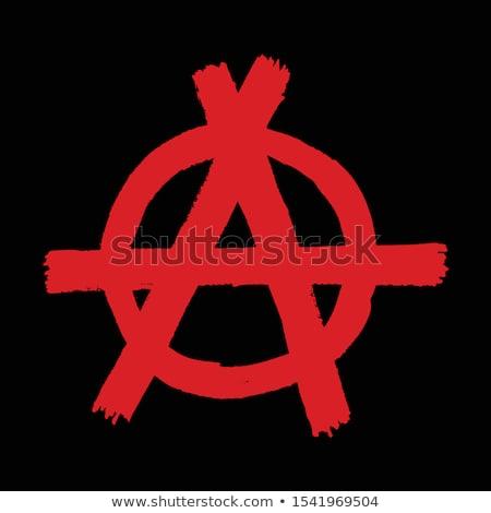 anarquía · anarquista · revolución · político · filosofía · signo - foto stock © stevanovicigor