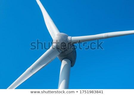 éolienne · vue · ciel · bleu · nuages · ciel - photo stock © iofoto