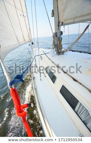Vitorlás vitorlázik kék tenger napos nyár Stock fotó © lunamarina