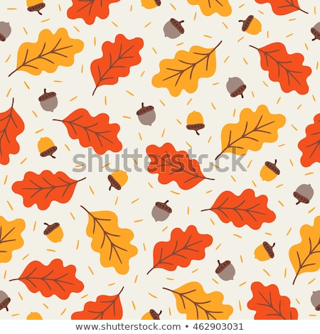 Stock fotó: Seamless Pattern With Autumn Leafs