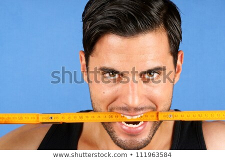 плотник работник метрический правителя Сток-фото © aladin66