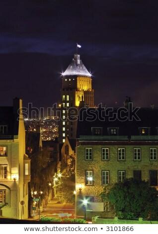 Precio edificio noche Quebec ciudad Canadá Foto stock © aladin66
