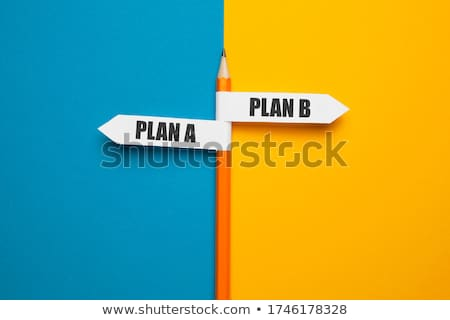 Uit plan strategie plan b papier Blauw Stockfoto © latent