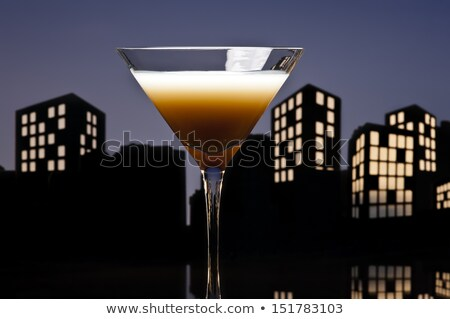 Metropolis Coffee Martini cocktail Stock photo © 3523studio