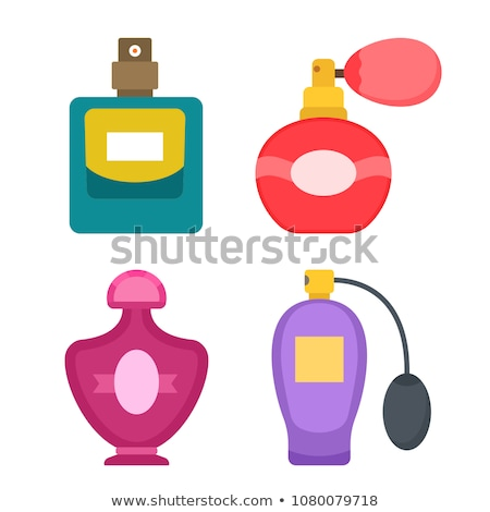 perfume bottle spraying colored scent stock photo © ra2studio