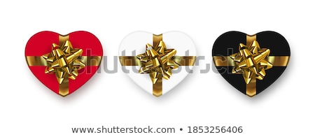 Geel vak hartvorm witte hart verjaardag Stockfoto © stoonn