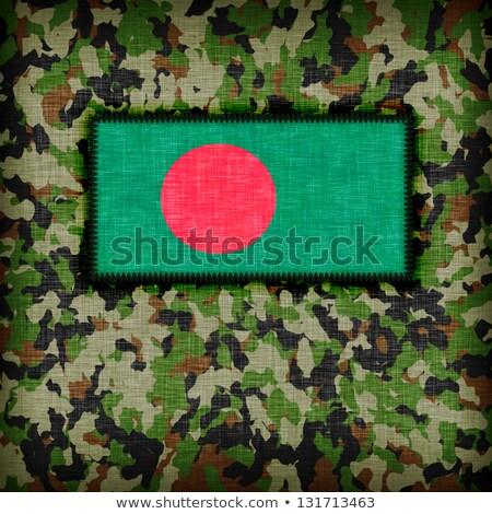 álca egyenruha Banglades zászló textúra absztrakt Stock fotó © michaklootwijk