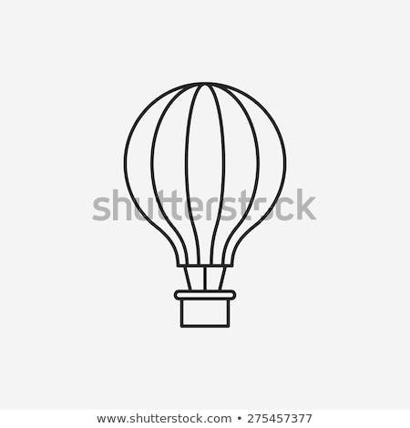 icon with flying balloons illustration design stock photo © alexmillos