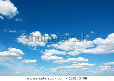 группа · облаке · Blue · Sky · природы · лет · синий - Сток-фото © nuiiko