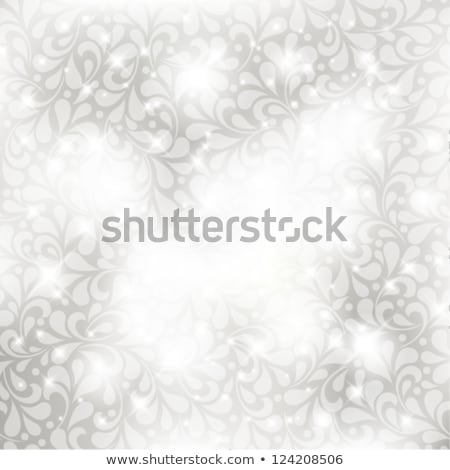abstract st valentine card with flowers heart shapes stars and stock photo © wad