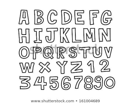 Doodle scribble sketch alphabet letters and digits Stock photo © adrian_n
