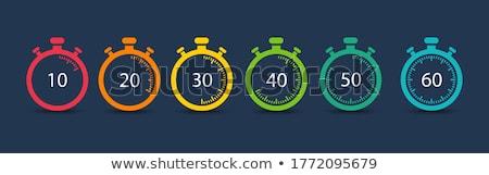 Pare relógios cronômetro relógio branco acelerar Foto stock © mayboro1964