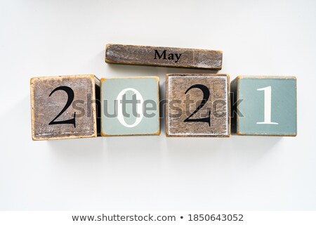 may in 3d wooden cubes Stock photo © marinini