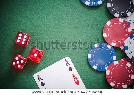 Casino table deux vert puces couleur Photo stock © arquiplay77