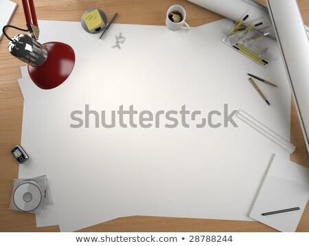 designer · művész · munka · szín · minták · asztal - stock fotó © arquiplay77