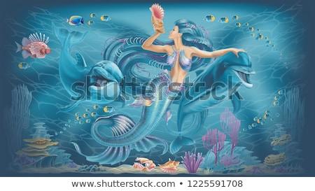 Yunus 3d render bir güzel bakıyor balık Stok fotoğraf © Elenarts