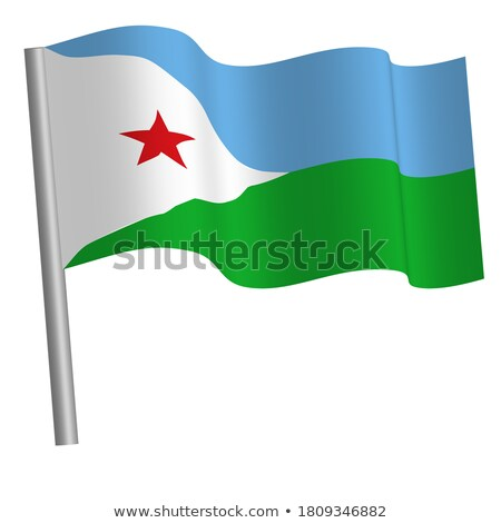 Miniature Flag of Djibouti Stock photo © bosphorus