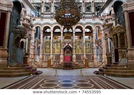 Interior of the Church of Holy Sepulcher Stock photo © AndreyKr