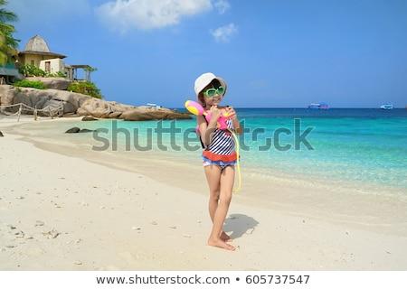 Child playing with gun stock photo © shamtor