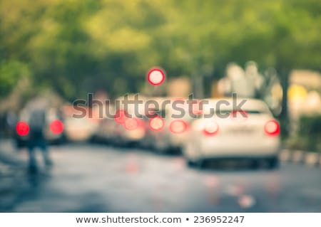 traffic jam on rainy day in paris stock photo © rglinsky77