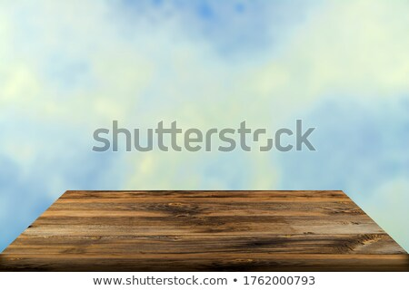 view of wooden board against sea surface stock photo © antonihalim