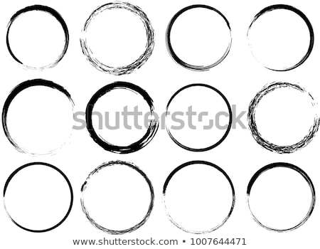 Set of ink circles. Stock photo © gladiolus