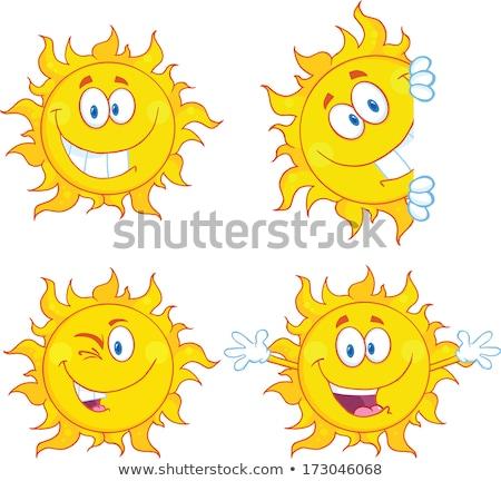 Sun Character Winking Stok fotoğraf © HitToon