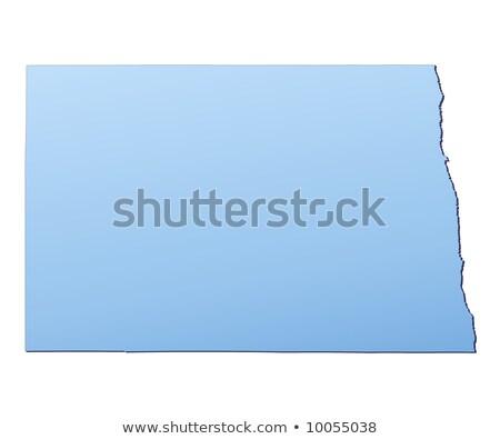 Mavi harita Kuzey Dakota 3D biçim renkli Stok fotoğraf © NiroDesign