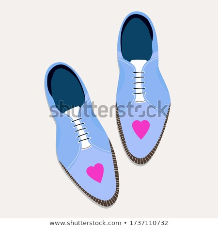 Stock photo: heart from stylish hand drawn women items