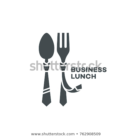 flat design concept icons of business morning or lunch break stock photo © elmiko